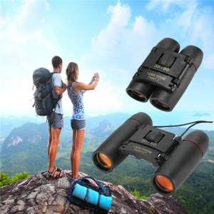 30 X 60 Mini Compact Binocular Telescope 126m To 1000m Day And Night Vision Foldable Telescope,Black - intl