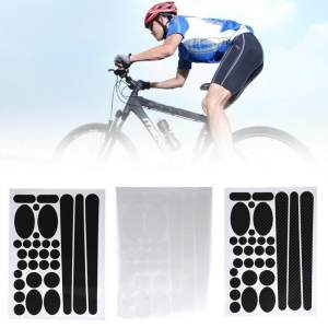 epayst Chainstay And Frame Sticker Protector Kit For Bikes Bicycle Cycle Decal Film Carbon(3D