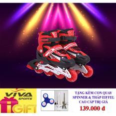 Giày Trượt Patin Gắn Đinh Phát Sáng Cao Cấp (  SIZE L ) - VIVA SPORT ( TẶNG CON QUAY SPINNER & THÁP EIFFEL CAO CẤP )