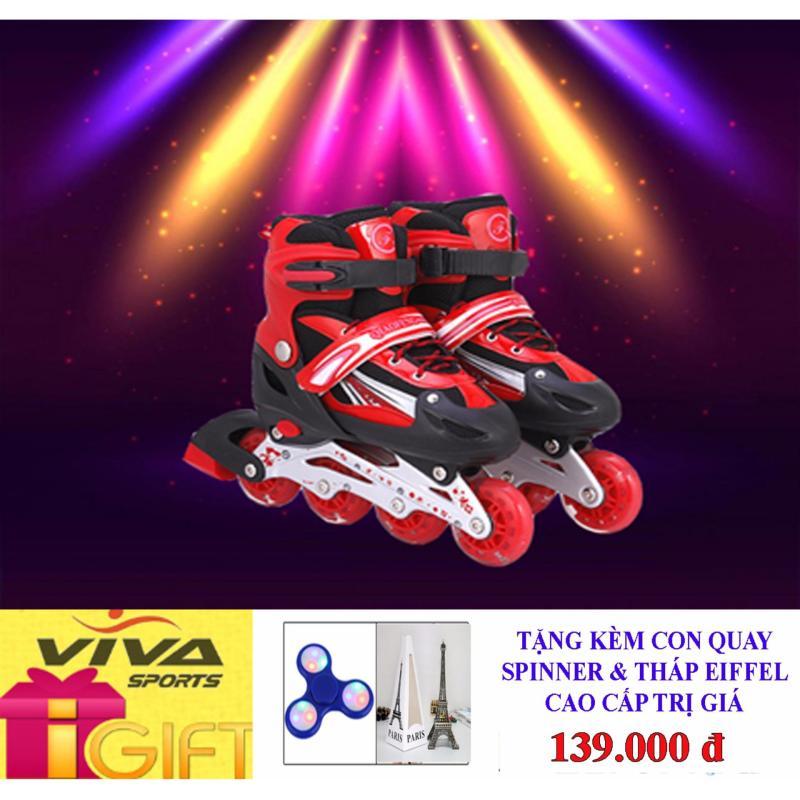 Phân phối Giày Trượt Patin Gắn Đinh Phát Sáng Cao Cấp (  SIZE L ) - VIVA SPORT ( TẶNG CON QUAY SPINNER & THÁP EIFFEL CAO CẤP )