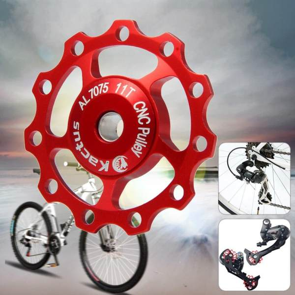 Kactus Alluminum Alloy CNC 11T Guide Roller Wheel Rear Derailleur Pulley for SHIMANO SRAM - intl