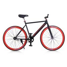 Xe đạp Fixed Gear Single Avents New 2018 (Đen phối đỏ)