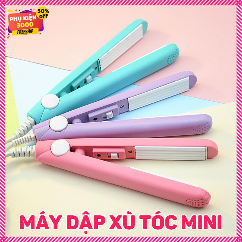 Máy dập xù tạo sóng, kẹp tạo xù tóc, tạo phồng máy mini dễ thương nhỏ gọn làm tóc tại nhà giá rẻ , tạo kiểu tóc chuyên nghiệp hàng nội địa trung – may lam toc – may la toc