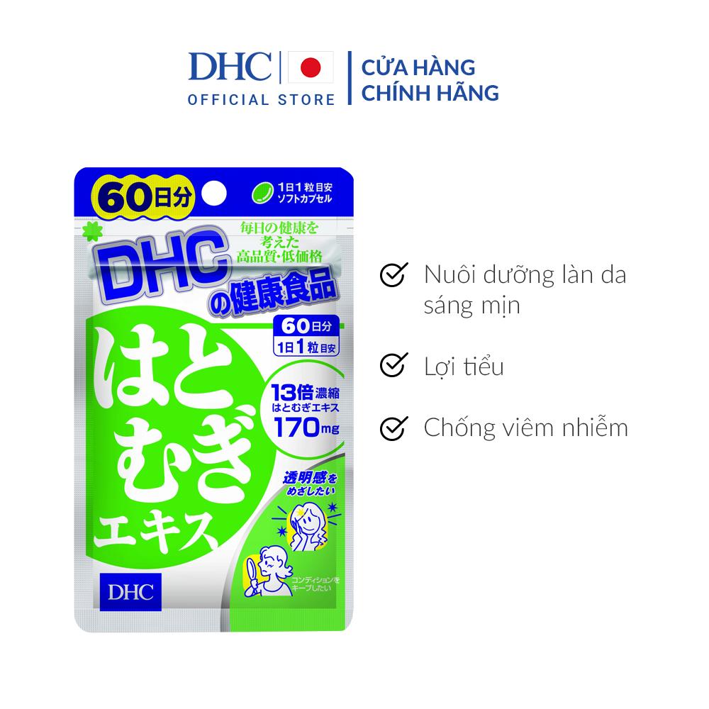 Viên uống Trắng da DHC Adlay Extract Gói 60 Ngày