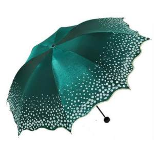 Hình thu nhỏ sản phẩm 2016 new Ewha parasol brand 6-color UV beach umbrella folded adult lace sun umbrella Sunny umbrella rain women#Light Green - intl