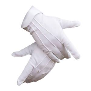 Hình ảnh Newworldmall White Formal Gloves Tuxedo Honor Guard Parade Inspection Collection Serve Men - intl