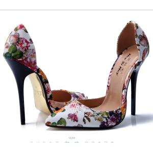 Hình thu nhỏ sản phẩm 2019 New Customized Plus Size Fashion High-Heeled Shoes Heeled Sandals Pointed Toe Stiletto High Heels Sandals Women Closed Toe Party Women Shoes Ladies Shoes