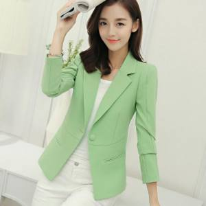Hình ảnh Soft Spring Autumn Suit Women Blazers And Jackets Blaser OL Female Ladies Office Business Suits Work Coat Outwear Casual - intl