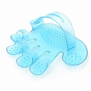 Hình ảnh 2pcs Pets Five Finger Bathing Brush Adjustable Rubbing Massage Brush Dog Cat Brush - intl