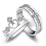 Hình thu nhỏ Adjustable Couple Rings 925 Silver Romentic Lover Ring Jewelry E002 - intl
