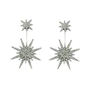 After the implementation of the Korean version, anti allergy earrings, female personality, simple temperament earrings, lovely fashion snowflake ear jewelry - intl