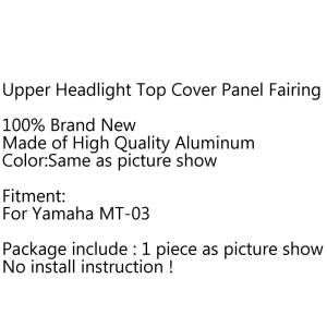 Hình thu nhỏ Areyourshop Upper Headlight Top Mount Cover Panel Fairing Screen For MT-03
