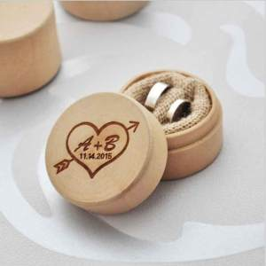Hình thu nhỏ sản phẩm Cocotina Ring Wooden Personalized Wedding Ring Box Rustic Custom Personalized Ring