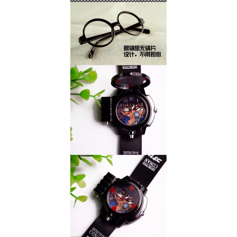 Nơi bán Đồng hồ bé trai dây nhựa hình Conan + 1 CẶP KÍNH THÁM TỬ( GONG KINH)