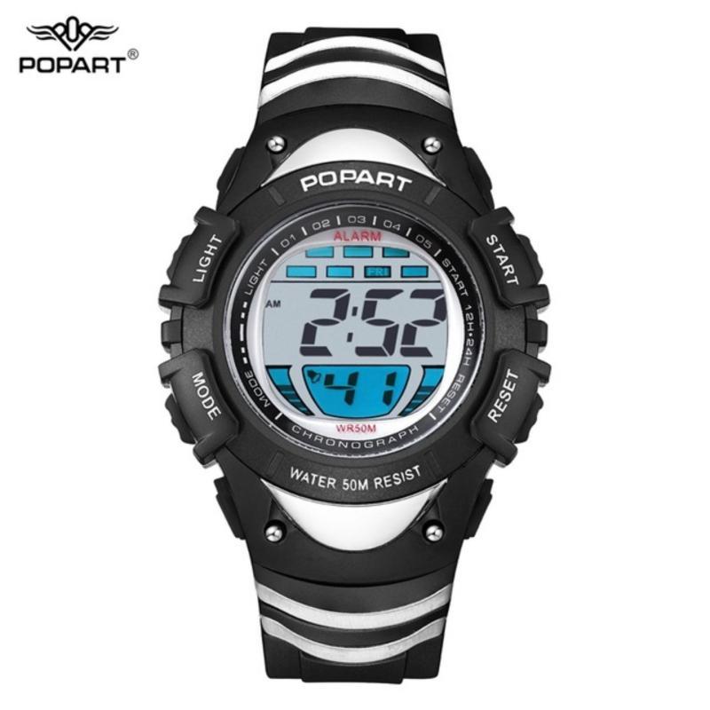 Đồng hồ bé trai điện tử POPART nhiều nút bấm, đầy đủ chức năng, chống va đập chống nước tốt, độ bền 10 năm bán chạy