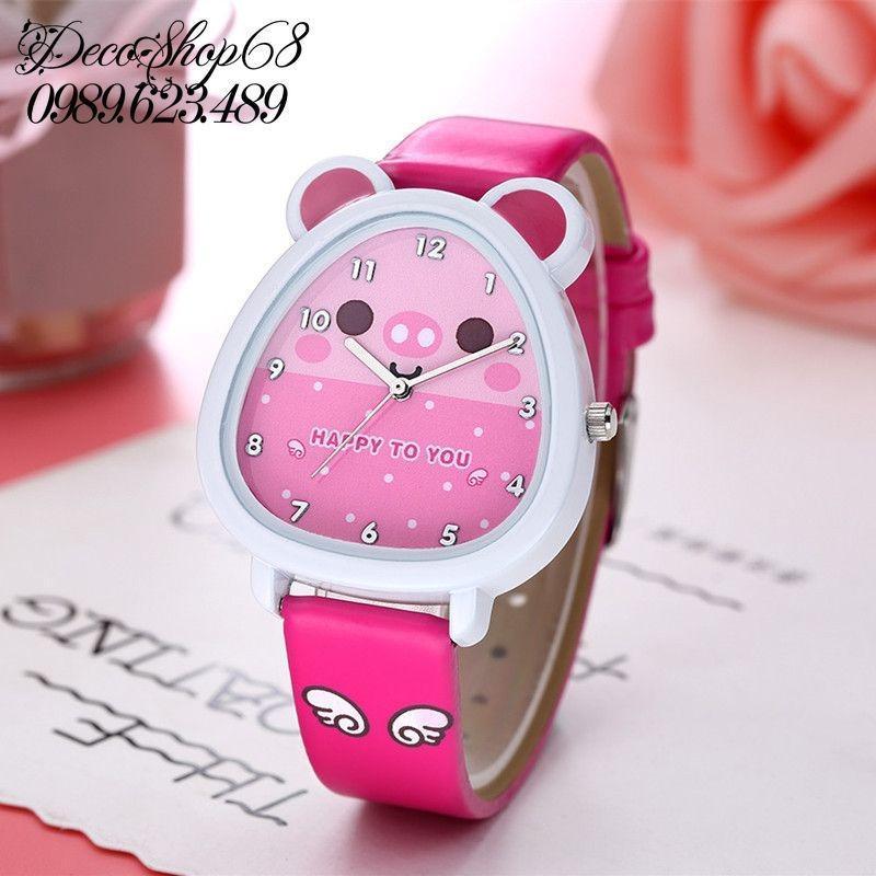 Đồng hồ trẻ em Decoshop68 W07-Do màu đỏ giá tốt bán chạy