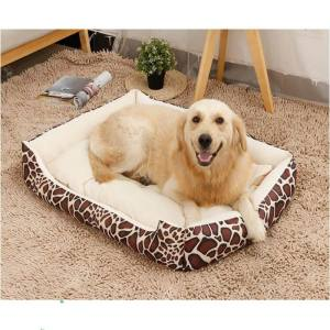 Hình thu nhỏ sản phẩm Durable Luxury Pet Kennel House Warm Large Dog Bed Cat Cushion Mat Sofa for Big Dogs Cama Para Cachorro Puppy Teddy Sofa Beige (S 60*45*15 cm) Leopard - intl