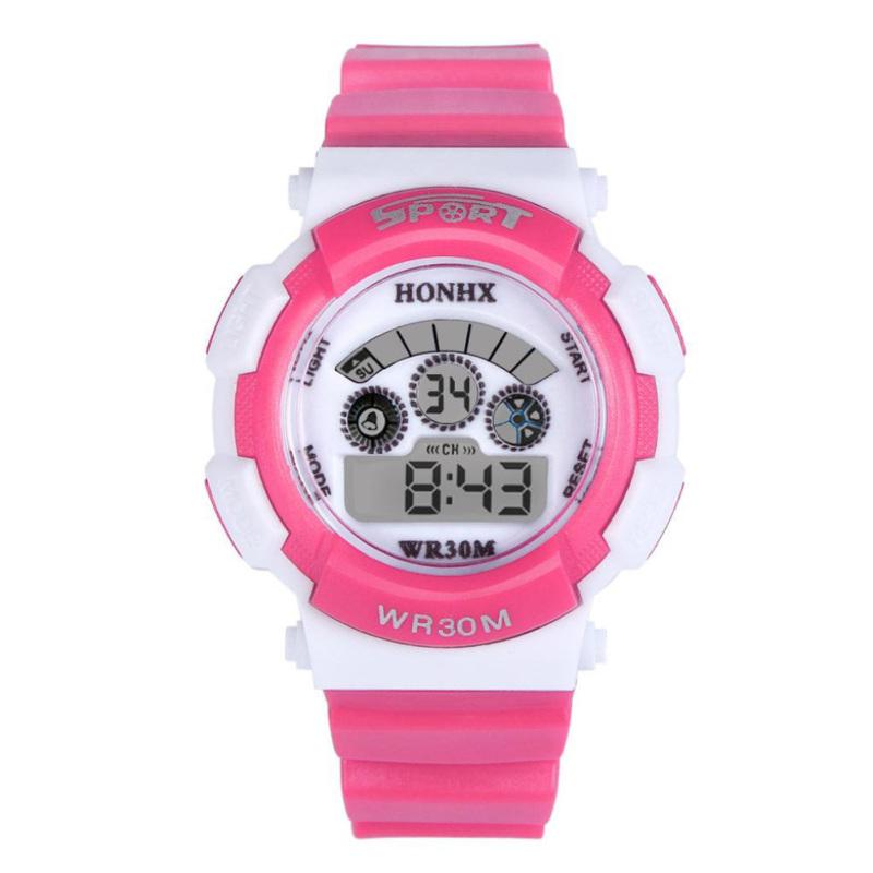 Multifunction Waterproof Sport Electronic Digital Wrist Watch (Hot Pink) - intl bán chạy