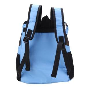 Hình ảnh New Breathable Pet Backpack Dog Carrier Bags Portable Travel Bag(Blue) - intl