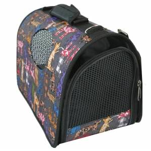 Hình ảnh Panda Online Portable Pet Dog Cat Rabbit Puppy Travel Carrier Case Cage Tent Kennel Bag Crate S(Black) - intl