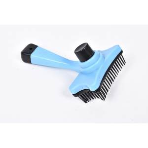Hình ảnh Pet Cat Hair Brush Fur Shedding Dog Grooming Tool Comb For Dog Hair Brush Remove Trimmer Grooming Cat Comb Rake Professional 30D,Blue - intl