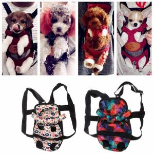Hình ảnh Pet Dog Backpack Carrier Puppy Pouch Dog Front Bag Back Pack Legs Out(S) - intl