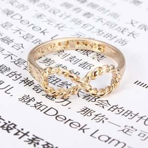 Hình thu nhỏ sản phẩm Teamtop Retro Best Friends Girls Charms Punk Rock Infinite Infinity Bowknot Finger Rings - intl