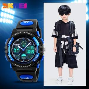 Hình thu nhỏ sản phẩm TwinkleStar Children'S Watches Fashion Sport Military Waterproof Wristwatches Dual Time Led Digital Quartz Watch For Boys Girls Kids