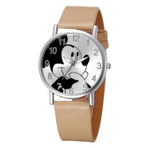 Women Watch Smooth with Cartoon Mouse Skin Casual Watch Light Brown - intl 1