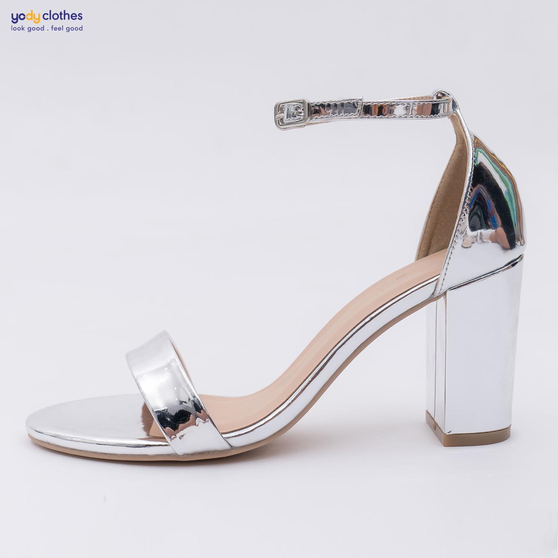 Giày Sandal Cao Gót Đế Vuông Quai Ngang thanh lịch (7cm) GIN4004