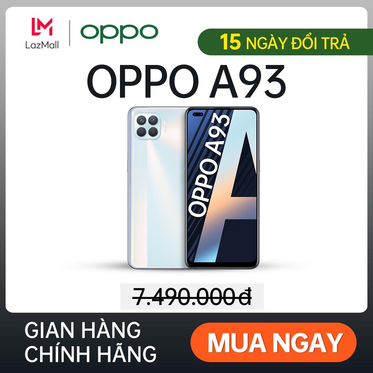 Điện thoại OPPO A93 (8GB/128GB) - Hàng chính hãng