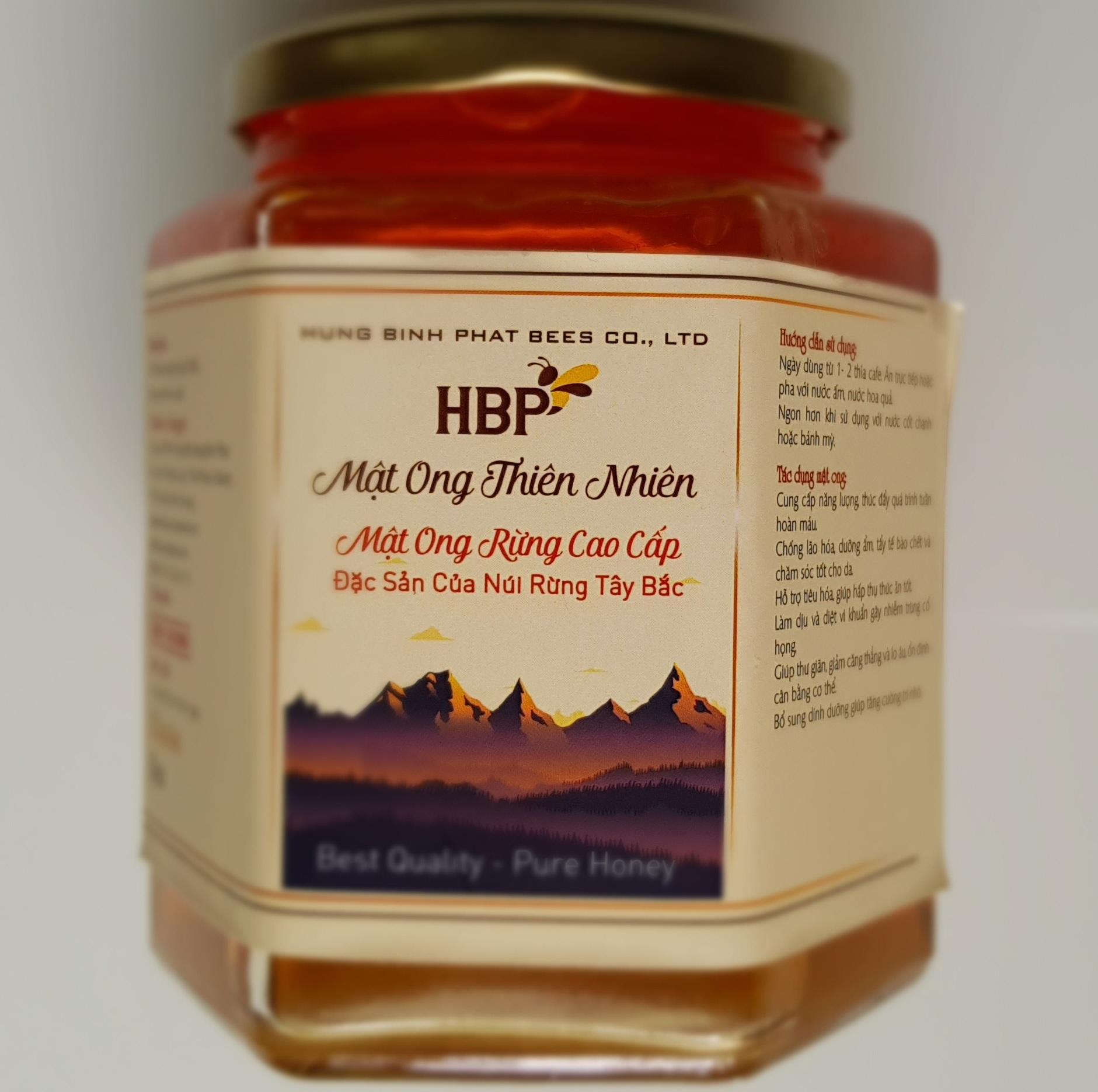 Mật ong hoa rừng, Đặc sản Tây Bắc - Hũ 600g (Xả hàng cuối năm, Free ship, đổi trả nếu không hài lòng về chất lượng), tăng cường hệ miễn dịch, gia vị của nhiều món đồ ăn, thức uống, làm mask cho chị em