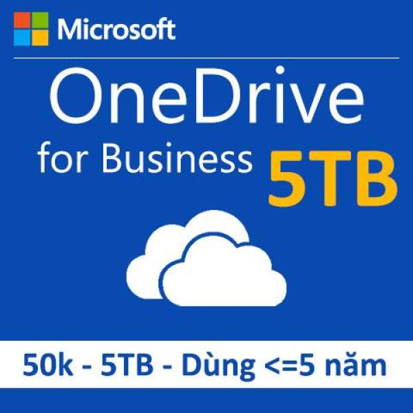 Bán OneDrive for Business dung lượng 5TB