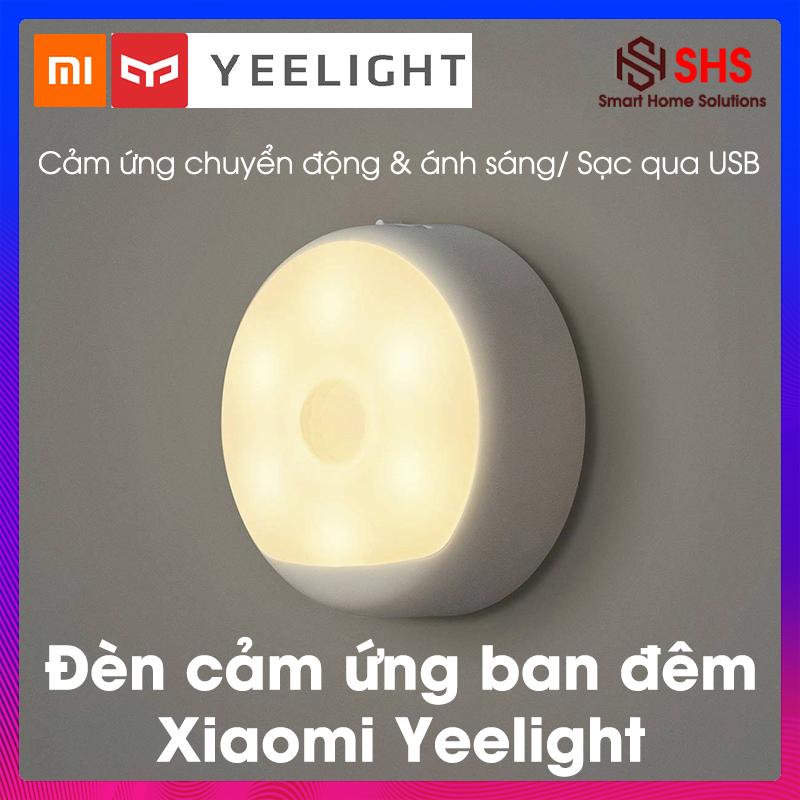 Đèn ngủ cảm ứng chuyển động, đèn cảm biến hồng ngoại, đèn ngủ thông minh Xiaomi Yeelight dán tường, có móc treo, pin sạc dùng 120 ngày, 0.5W-2700K, YLYD01YL, SHS Vietnam, BH 6 THÁNG