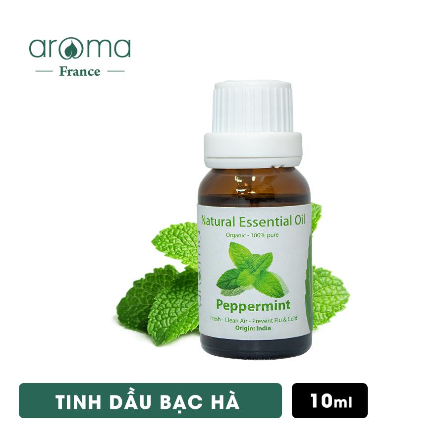 Tinh Dầu Bạc Hà Aroma Nguyên Chất Nguồn Gốc Thiên Nhiên – Peppermint Essential OIl – 10ml/15ml/30ml/50ml