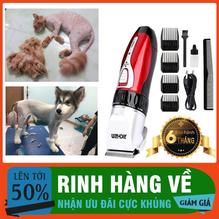 🐈Bảo Hành 6 Tháng🐈Máy Cắt Lông Chó Mèo – Tông Đơ Jichen 0817 Cạo Tỉa Lông Thú Cưng