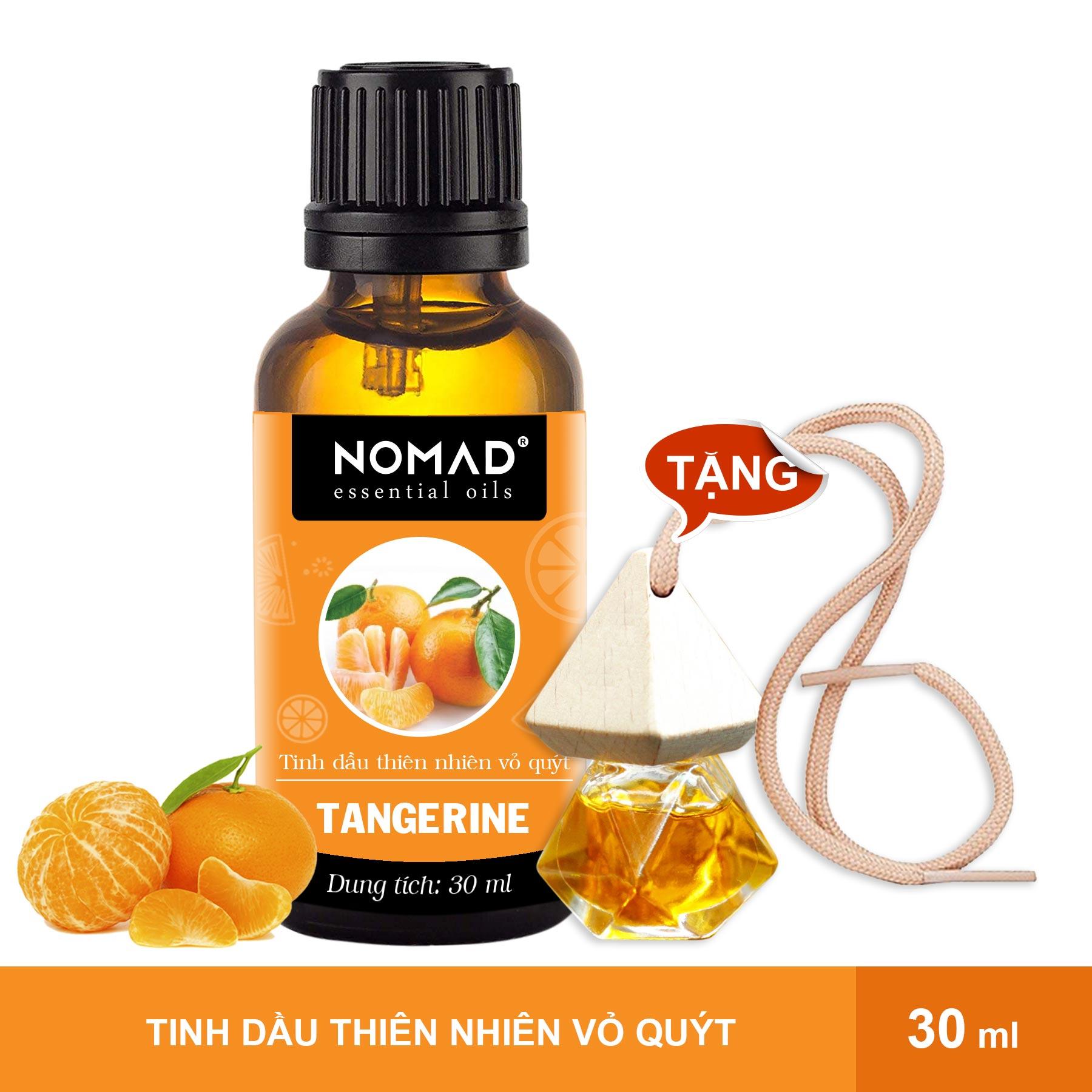 Combo Tinh Dầu Thiên Nhiên Vỏ Quýt Nomad Essential Oils Tangerine 30ml + Vỏ Tinh Dầu Dạng Treo