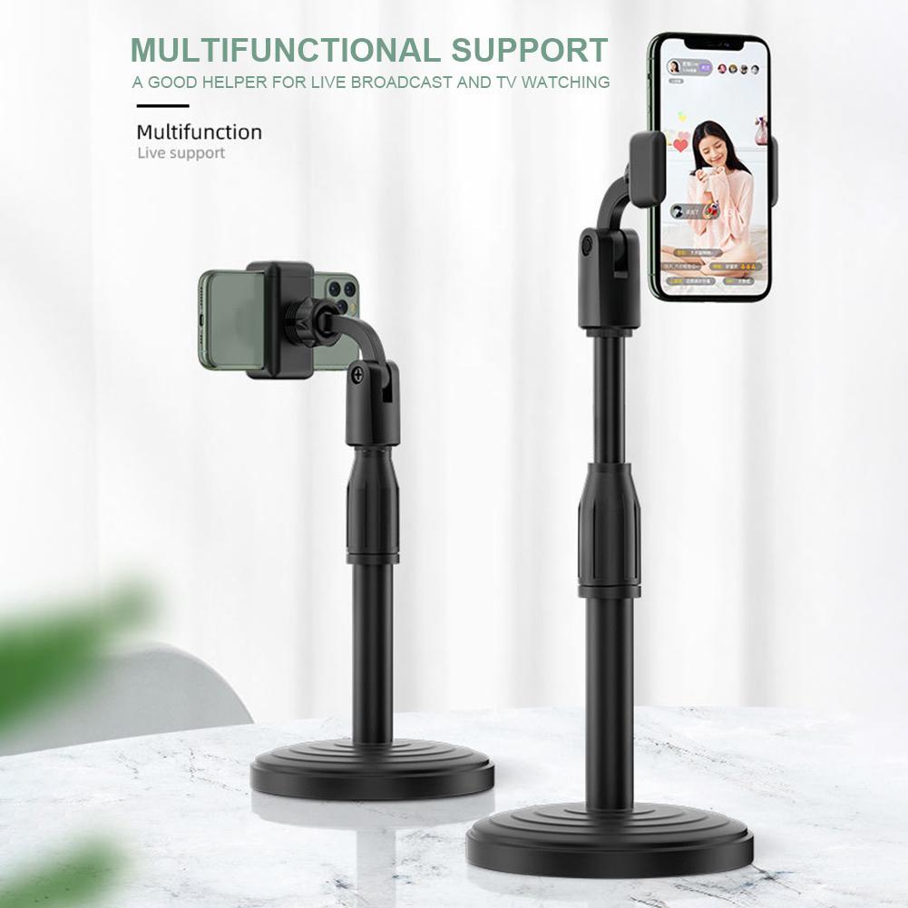 Gía đỡ điện thoại,ipad xoay 360 độ để bàn có điều chỉnh độ cao thích hợp kèm miếng đệm chống rơi điện thoại ,chân đế chắc chắn