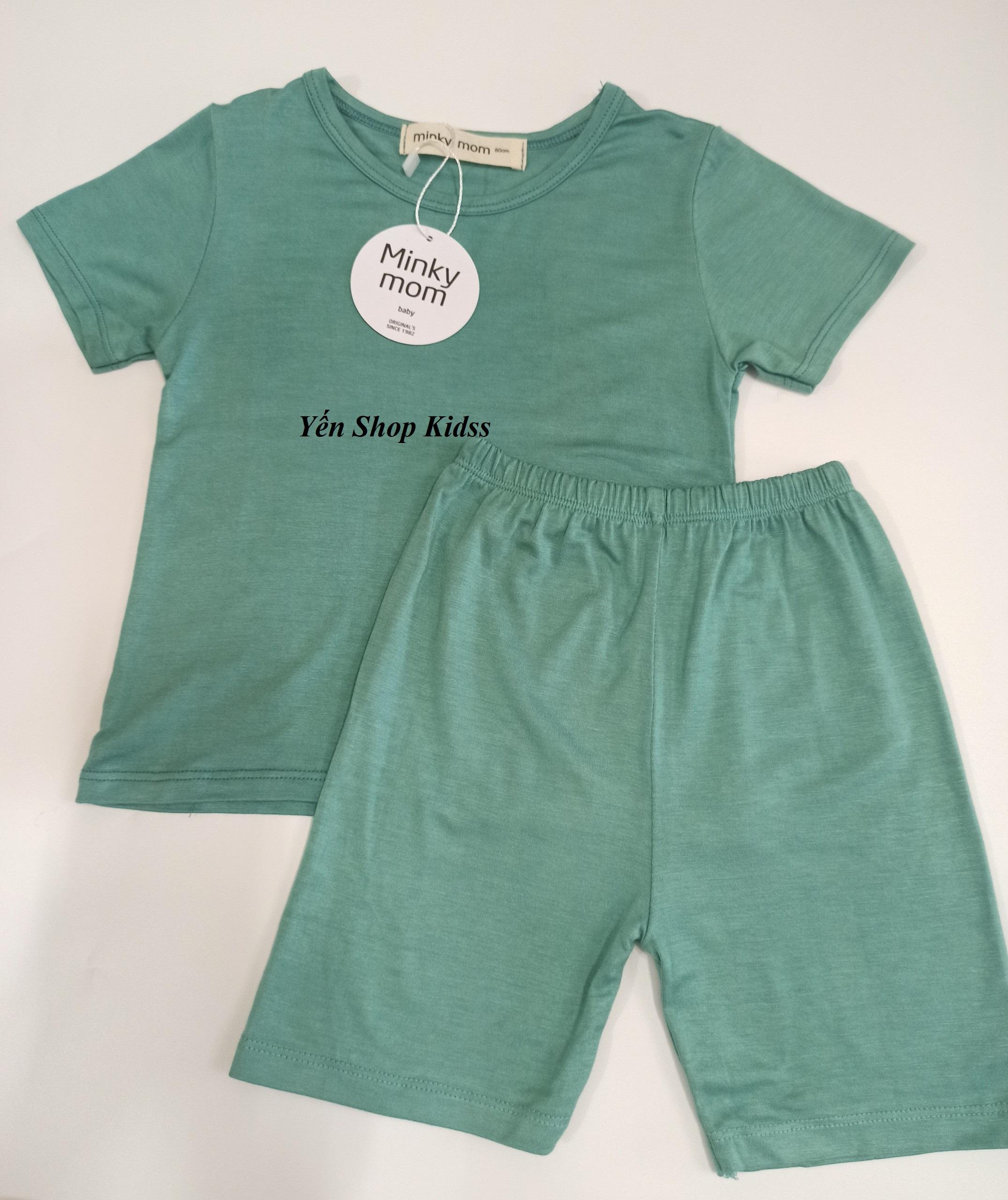 Bộ Cộc Tay Cotton Minky Mom Chất Thun Lạnh Cực Đẹp Cho Bé (Sz 6-19kg)( SP000950)