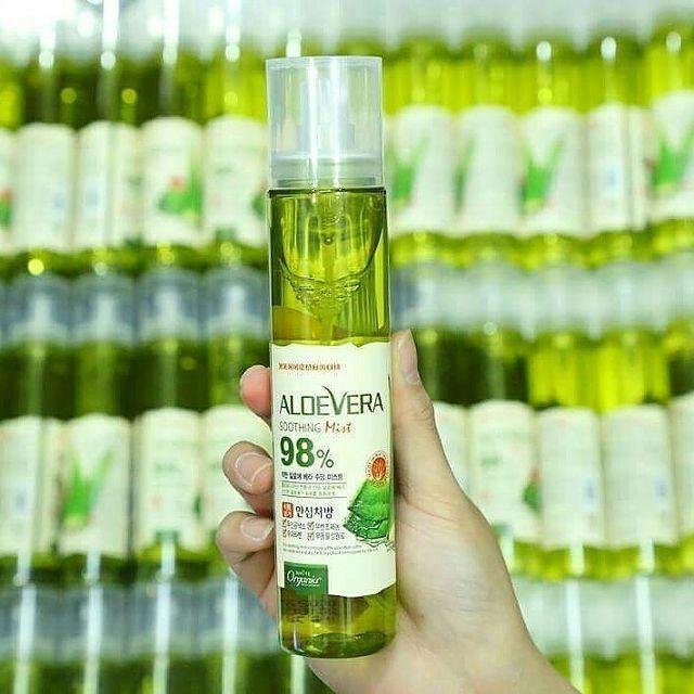 Xịt khoáng chiết xuất lô hội Aloe Vera Soothing Mist 98% Organia