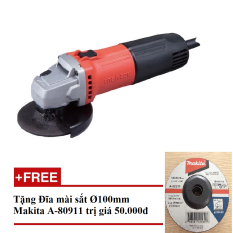 Máy mài góc Maktec MT90 (Cam phối đen) tặng đĩa mài Makita chính hãng