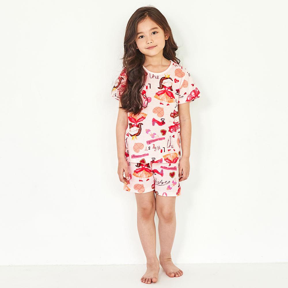 Bộ đồ mặc nhà bé gái Unifriend Hàn Quốc Uni004 cho bé 1-10 tuổi, vải cotton organic Korea. Đồ ngủ cao cấp, chính hãng cho bé.