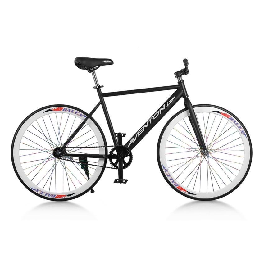 Xe đạp Fixed Gear Single Avents New 2018 (Đen phối trắng)