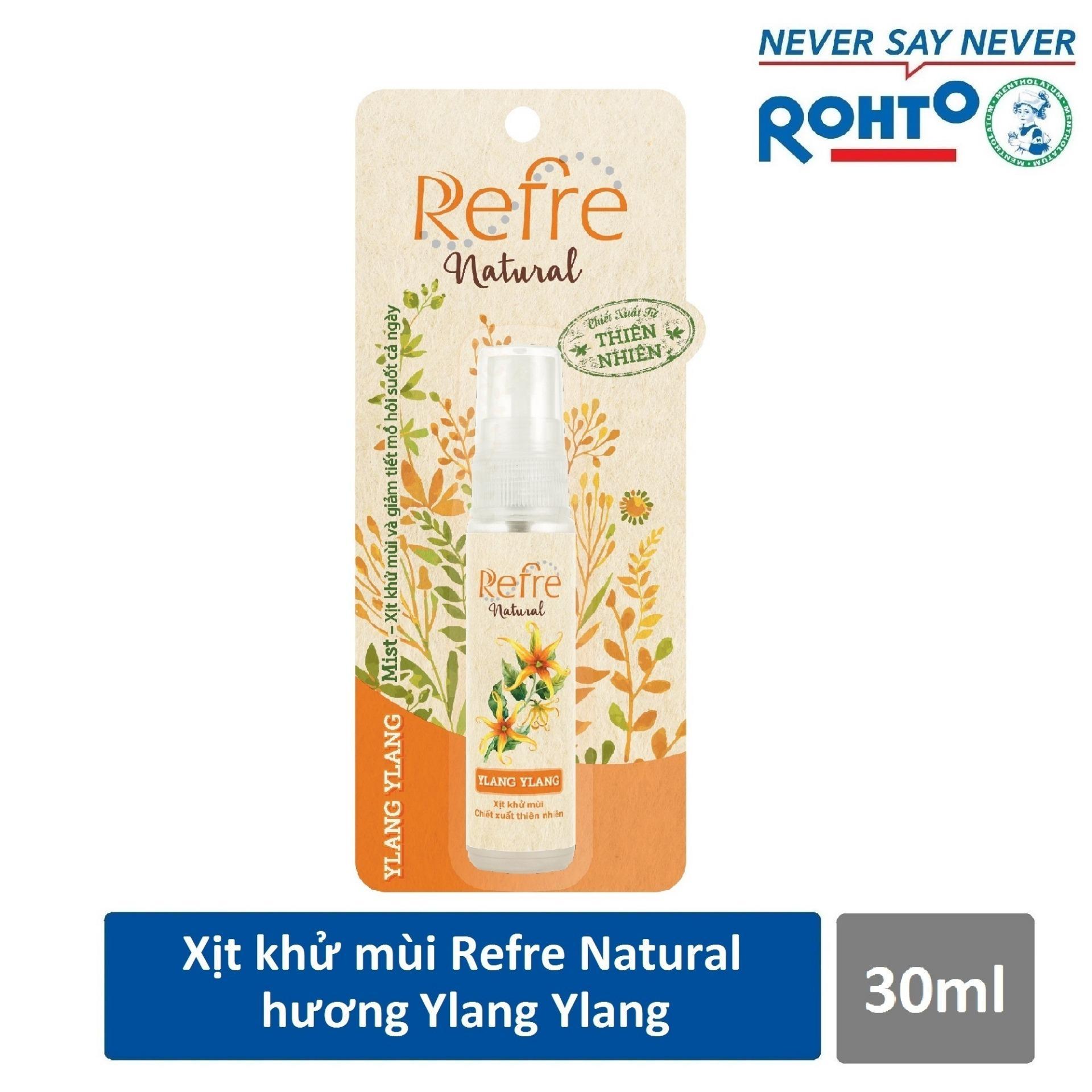 Xịt Khử Mùi Refre Natural Ylang Ylang Hương Ylang Ylang (30ml)