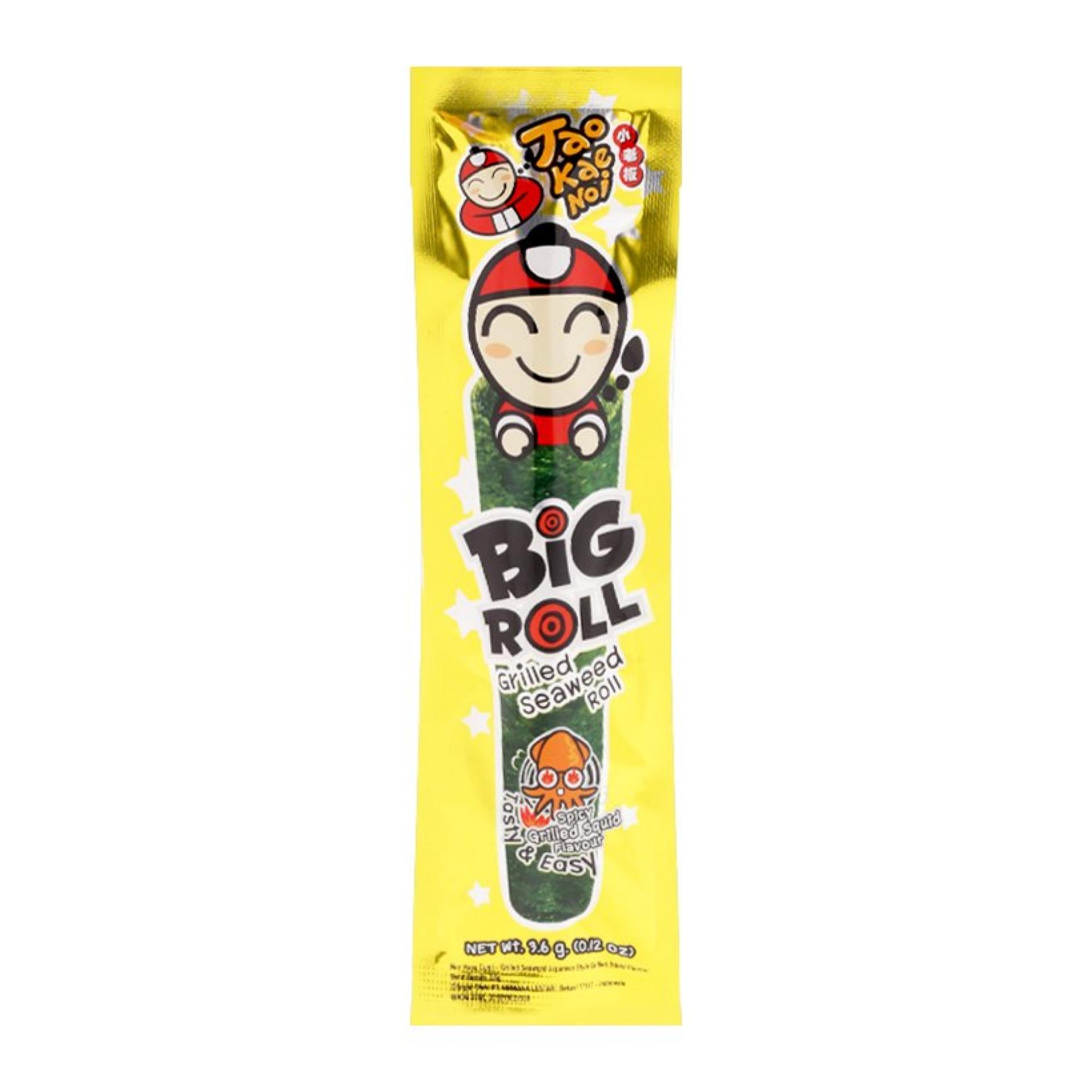 Combo 2 Gói Snack Rong biển Taokaenoi Nướng Big Roll vị Mực 3,6g