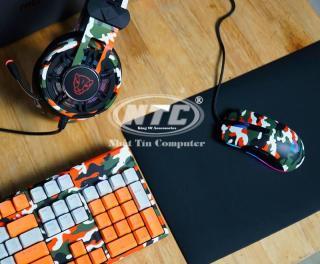 [HCM]Bộ combo phím chuột tai nghe chơi game Motospeed GS700 cực chất (màu lính Cam) - Hãng Phân phối Chính Thức - Nhất Tín Computer thumbnail