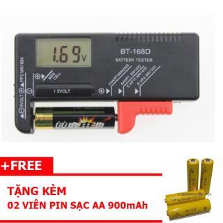Dụng cụ đo pin đa năng BT-168D + tặng kèm 02 viên pin sạc AA - 700mAh thumbnail