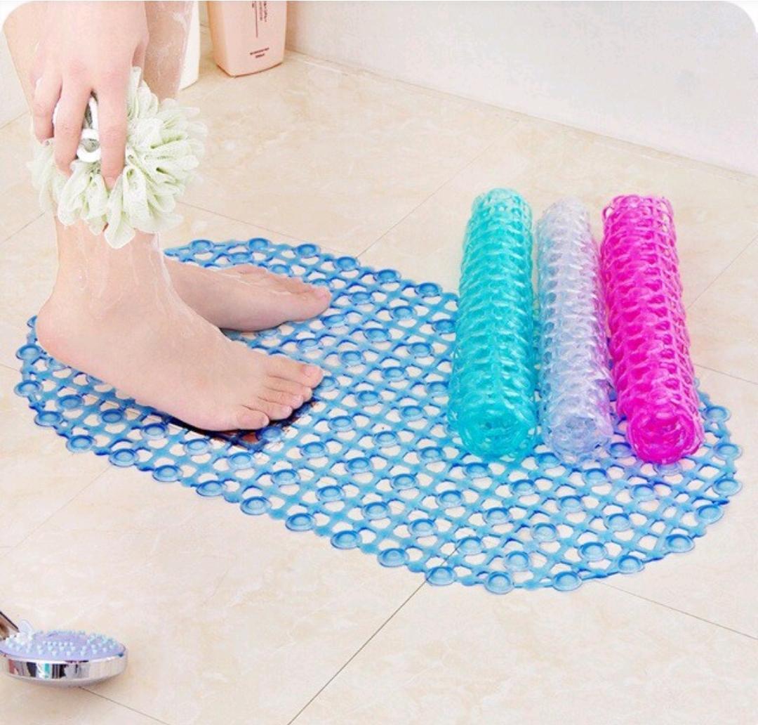 COMBO 2 Thảm nhựa chống trơn trượt nhà tắm(hồng- tím)
