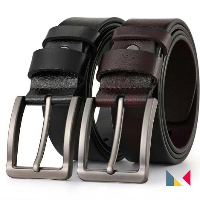 COMBO bộ 2 dây nịt ,Thắt lưng da nhập khẩu cao cấp  Ý ( nâu,đen)