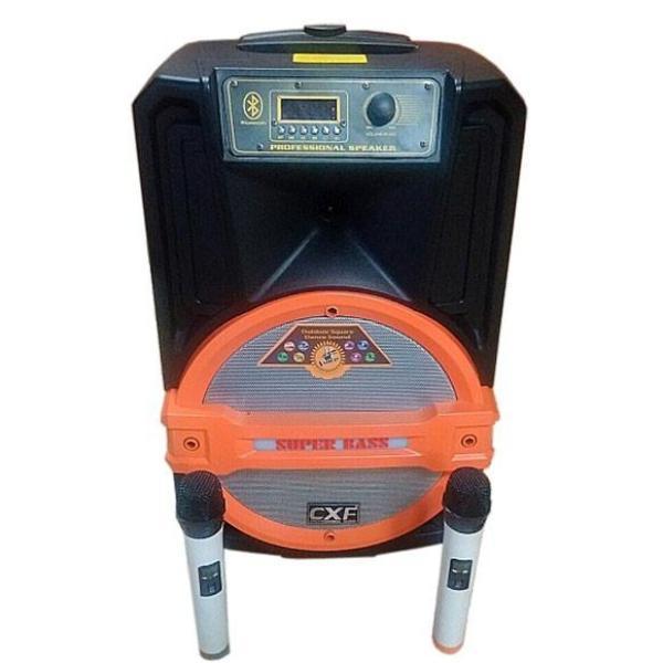 Mua Loa Kéo Hát Karaoke CXF 1202 Super Bass 3 Tấc cực hay (tặng kèm 2 mic không dây).bluetooth.karaoke.nghe nhạc.kẹo kéo.mini.bass mạnh.giá rẻ.công suất lớn.led 7 màu.gia đình.cỡ lớn